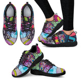 Pitbull Design Women's Athletic Sneakers - Dean Russo Art - Jill 'n Jacks