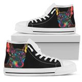 Miniature Pinscher Women's High Top Canvas Shoes - Dean Russo Art