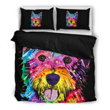 Westie Bedding Set - Duvet Cover with Two Pillowcases - Dean Russo Art