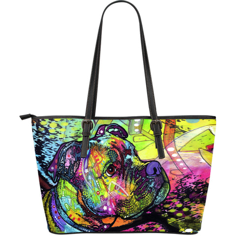 Boxer Large Leather Tote Bag - Dean Russo Art