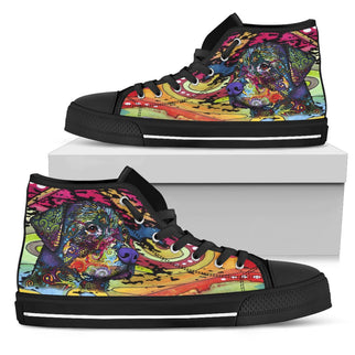 Rottweiler Men's High Top Canvas Shoes - Dean Russo Art - Jill 'n Jacks