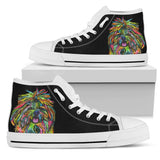 Shih Tzu Women's High Top Canvas Shoes - Dean Russo Art