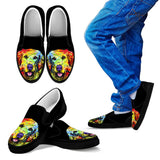 Golden Retriever Design Kids Slip Ons - Dean Russo Art