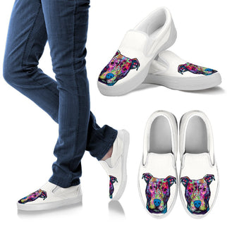 Pitbull Design Women's Slip Ons - Dean Russo Art - Jill 'n Jacks