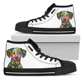 Dalmatian Women's High Top Canvas Shoes - Dean Russo Art