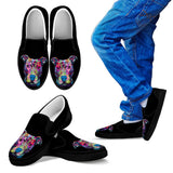 Pitbull Design Kids Slip Ons - Dean Russo Art