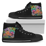 Labrador Men's High Top Canvas Shoes - Dean Russo Art