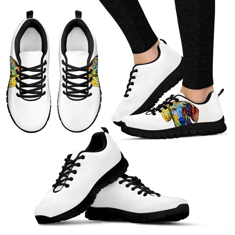 Dachshund Design Women's Sneakers - Dean Russo Art
