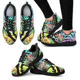 Airedale Terrier Design Women's Athletic Sneakers - Dean Russo Art