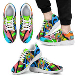 German Shepherd Design Men's Athletic Sneakers - Dean Russo Art