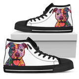 Staffordshire Terrier (Staffie) Women's High Top Canvas Shoes - Dean Russo Art