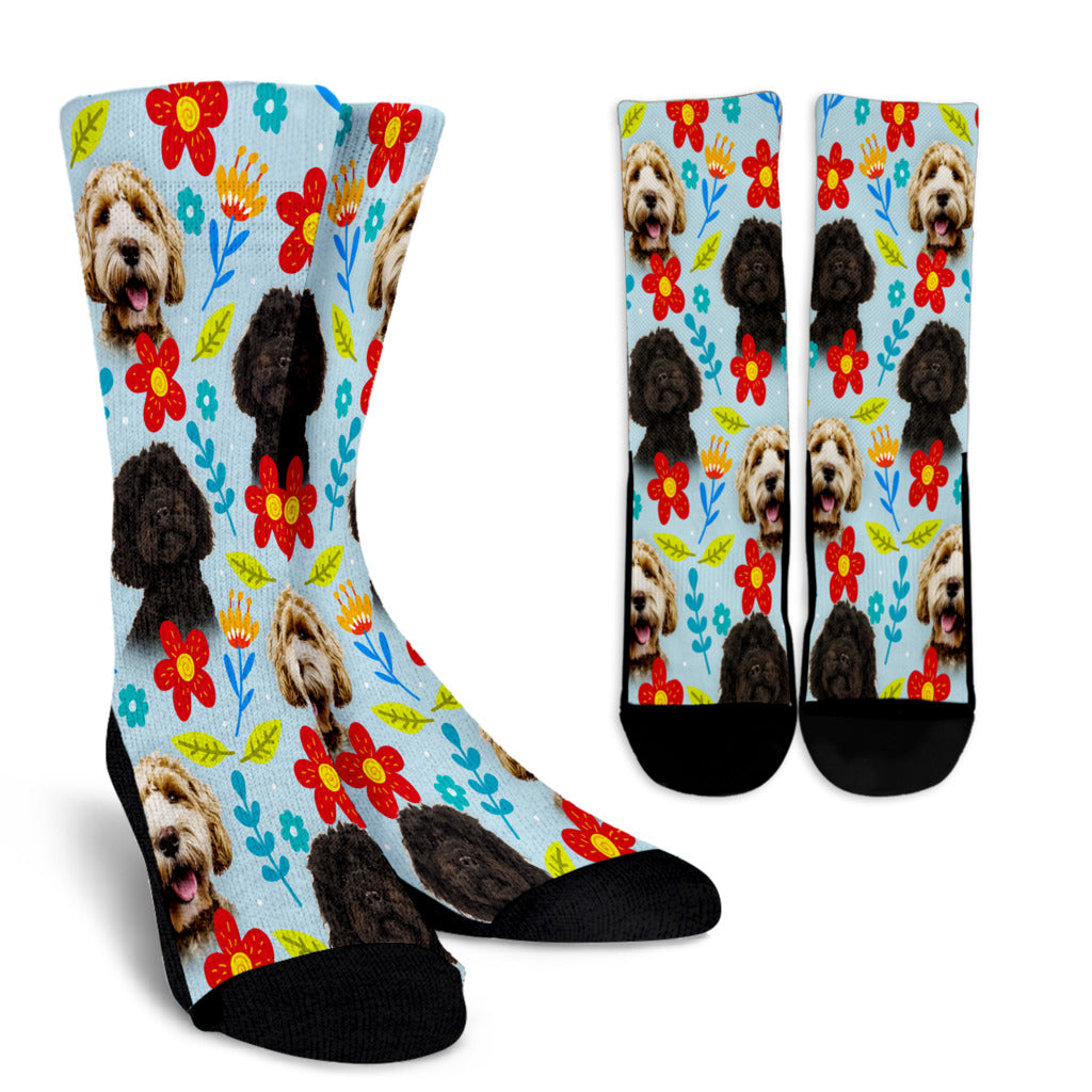Labradoodle Design Crew Socks - JillnJacks Exclusive - Jill 'n Jacks
