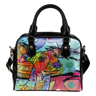 Whippet Shoulder Handbag - Dean Russo Art