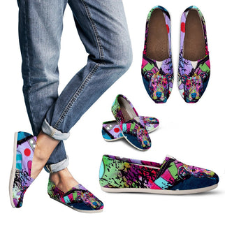 Pitbull Design Women's Casual Shoes - Dean Russo Art - Jill 'n Jacks