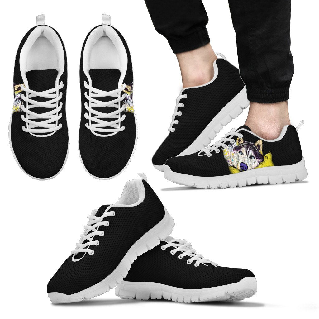 Husky Design Men's Sneakers - Dean Russo Art