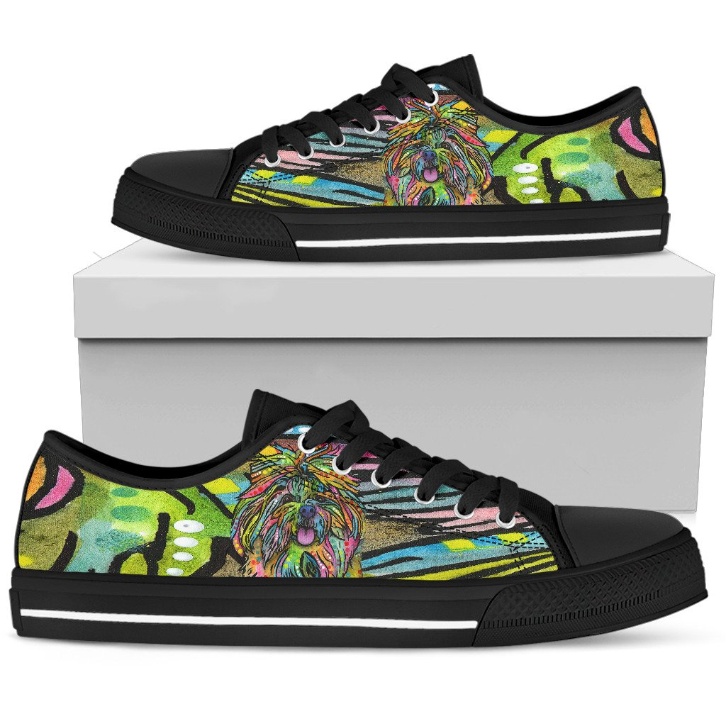 Shih Tzu Men's Low Top Canvas Shoes - Dean Russo Art