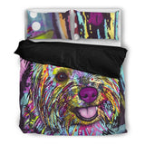 Cairn Terrier Bedding Set - Duvet Cover and Two Pillowcases - Dean Russo Art