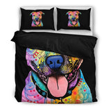 Pit Bull 1 Bedding Set - Duvet Cover plus Two Pillowcases - Dean Russo Art - Jill 'n Jacks