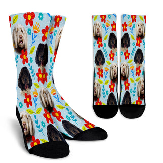 Portuguese Water Dog Design Crew Socks - JillnJacks Exclusive - Jill 'n Jacks