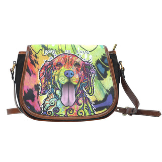 Golden Retriever Saddle Bag - Dean Russo Art