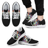 Australian Shepherd Design Men's Athletic Sneakers - Dean Russo Art