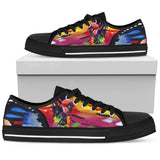 French Bulldog Women's Low Top Canvas Shoes - Dean Russo Art