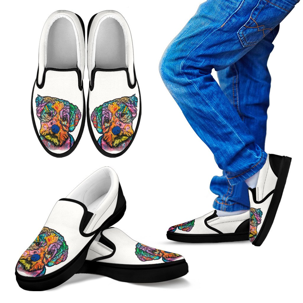 Maltese Design Kids Slip Ons - Dean Russo Art