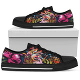 Cocker Spaniel Women's Low Top Canvas Shoes - Dean Russo Art