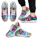 Pitbull Design Men's Athletic Sneakers - Dean Russo Art