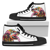 Cocker Spaniel Women's High Top Canvas Shoes - Dean Russo Art - Jill 'n Jacks
