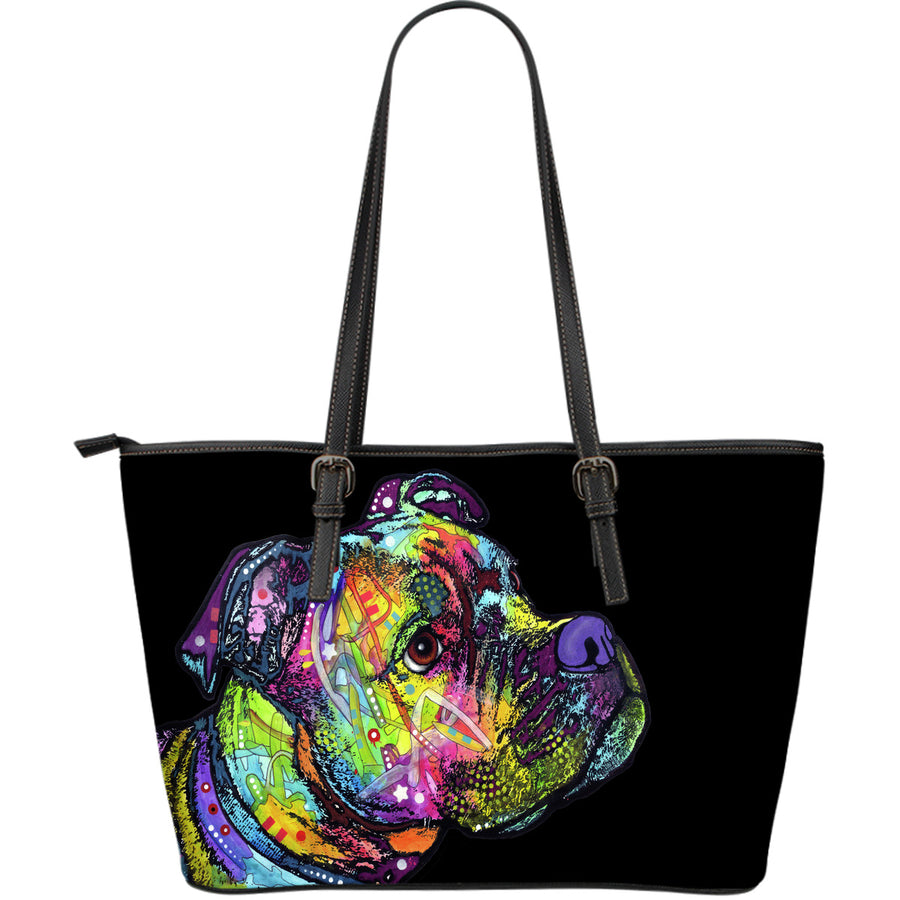 Boxer Large Leather Tote Bag - Dean Russo Art - Jill 'n Jacks