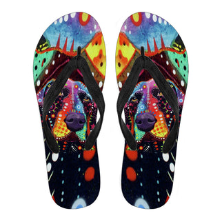 German Shorthaired Pointer Design Men's Flip Flops - Dean Russo Art - Jill 'n Jacks