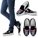 Pitbull Design Women's Slip Ons - Dean Russo Art