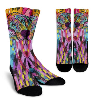 Irish Setter Series Design Crew Socks - Dean Russo Art