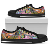 Great Dane Women's Low Top Canvas Shoes - Dean Russo Art