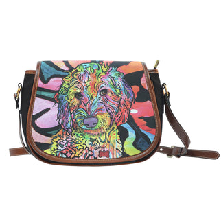 Labradoodle Saddle Bag - Dean Russo Art