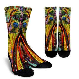 Mastiff Design Crew Socks - Dean Russo Art