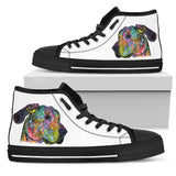 Great Dane Women's High Top Canvas Shoes - Dean Russo Art