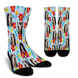 Bearded Collie Design Crew Socks - JillnJacks Exclusive - Jill 'n Jacks