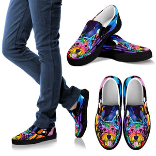 Westie Design Men's Slip Ons - Dean Russo Art