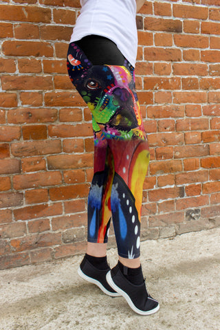 French Bulldog Leggings - Dean Russo Art - Jill 'n Jacks