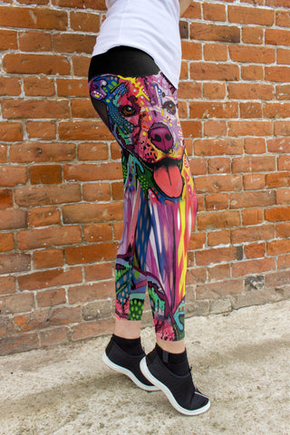 Staffordshire Terrier (Staffie) Leggings - Dean Russo Art - Jill 'n Jacks