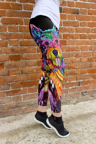 Westie Leggings - Dean Russo Art - Jill 'n Jacks