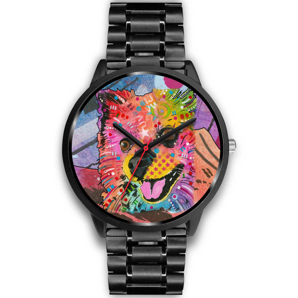Pomeranian Black Watch Design - Dean Russo Art - Jill 'n Jacks