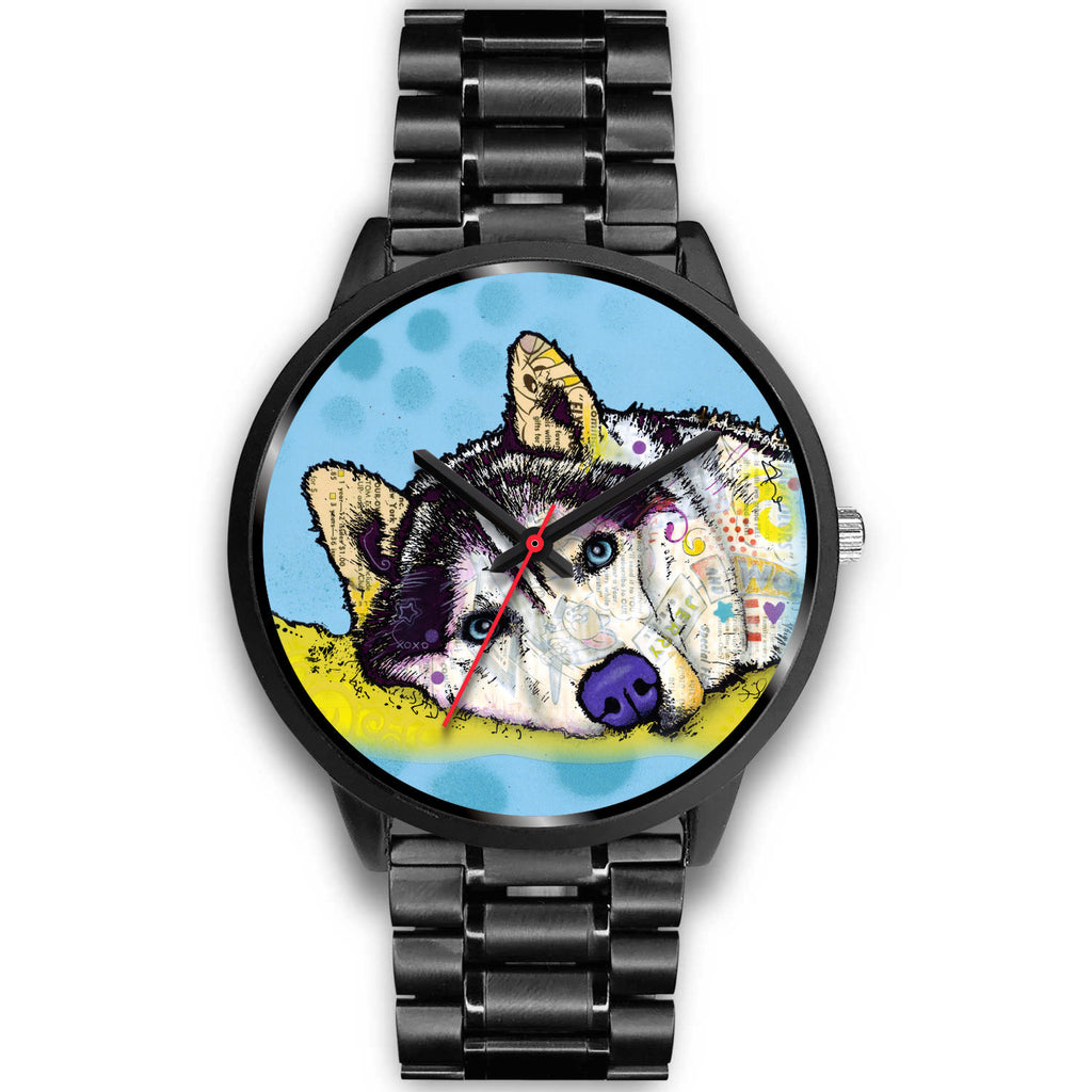 Husky Black Watch Design - Dean Russo Art - Jill 'n Jacks