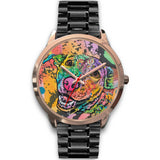 Labrador Rose Gold Watch Design - Dean Russo Art