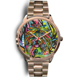 Shih Tzu Rose Gold Watch Design- Dean Russo Art