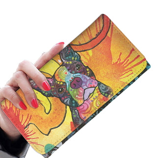 Boston Terrier Design Womens Wallet - Dean Russo Art - Jill 'n Jacks