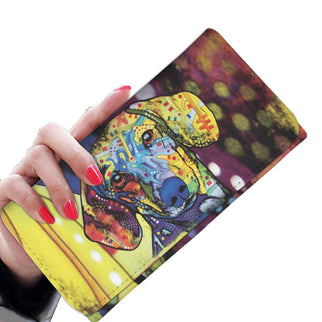 Dachshund Design Womens Wallet - Dean Russo Art - Jill 'n Jacks