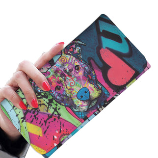 Pitbull Design Womens Wallet - Dean Russo Art